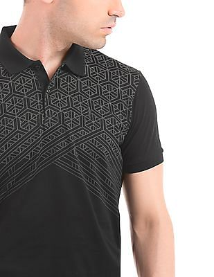 Arrow Newyork Printed Regular Fit Polo Shirt