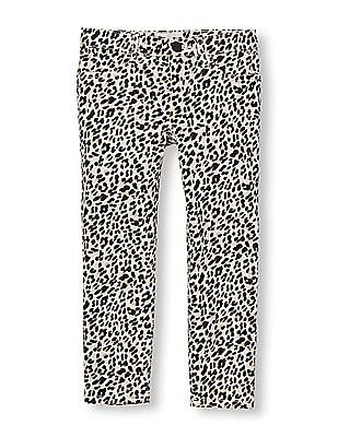 The Children's Place Girls Leopard Print Woven Jeggings
