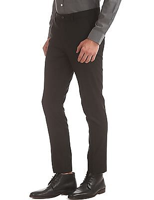 Arrow Newyork Solid Super Slim Fit Trousers