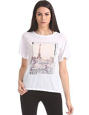 Elle Relaxed Fit Graphic T-Shirt