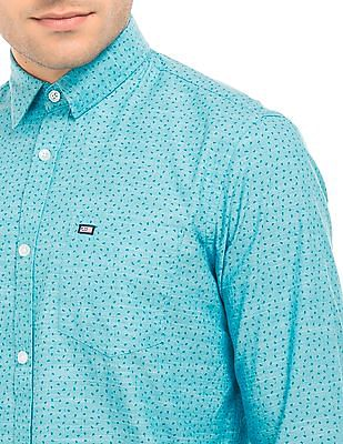 Arrow Sports Anchor Print Regular Fit Shirt