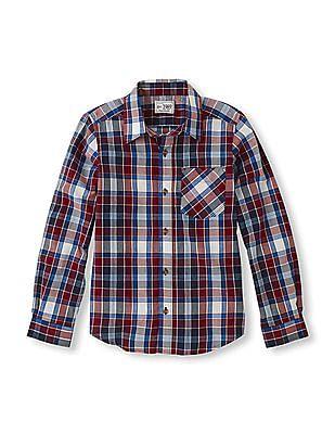 The Children's Place Boys Long Sleeve Plaid Shirt