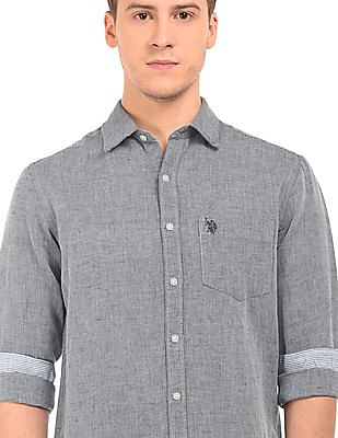 U.S. Polo Assn. Regular Fit Linen Cotton Shirt