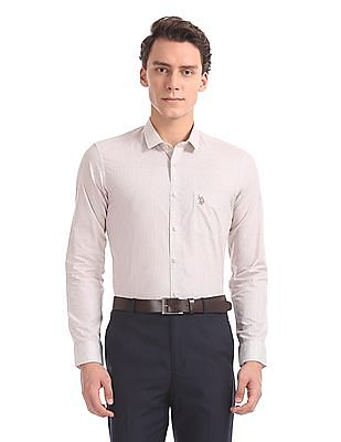 USPA Tailored Slim Fit Cotton Shirt