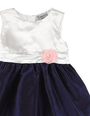 Cherokee Girls Colour Block Bubble Hem Dress