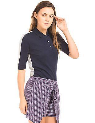 Nautica Colour Blocked Sweater Polo Shirt