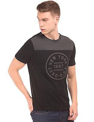 Aeropostale Contrast Yoke Regular Fit T-Shirt