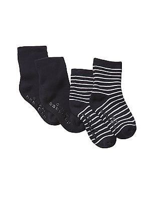 GAP Baby Assorted Favourite Stripe Socks - Pack Of 2