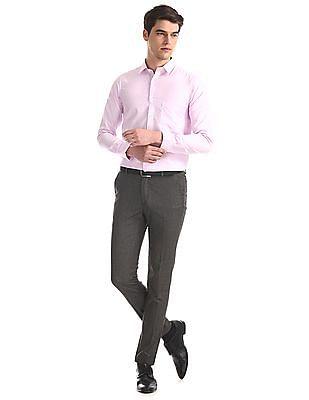 Excalibur Pink Cutaway Collar Patterned Shirt