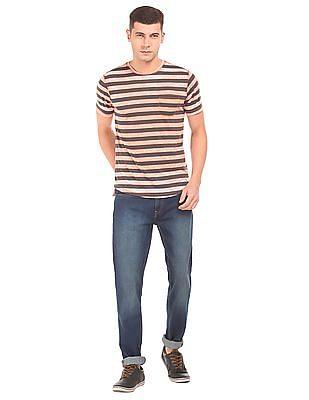 Cherokee Striped Slim Fit T-Shirt