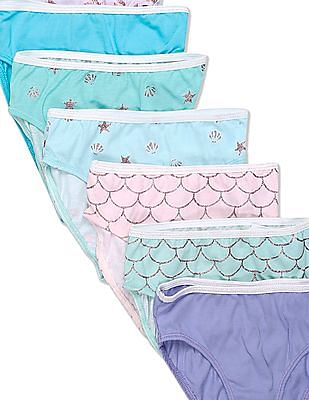 The Children's Place Assorted Toddler Girl Mermaid Briefs - Pack Of 7