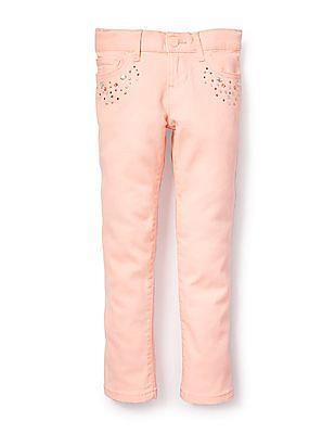 The Children's Place Girls Rhinestone Skinny Pants