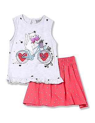 Cherokee Girls Tank And Skirt Set