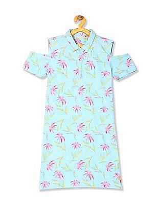 U.S. Polo Assn. Kids Girls Printed T-Shirt Dress