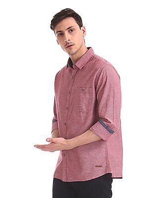 Cherokee Striped Long Sleeve Shirt