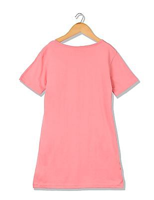 Cherokee Girls Printed Longline T-Shirt And Pyjama Sleep Set