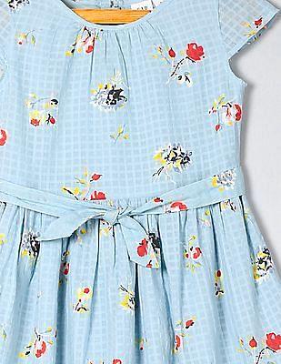 GAP Girls Short Sleeve Tie Waist Dress