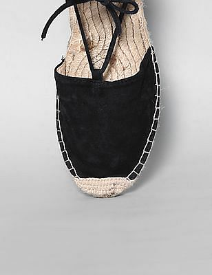 GAP Women Black Lace Up Espadrilles
