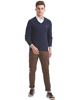 U.S. Polo Assn. Standard Fit V-Neck Sweater