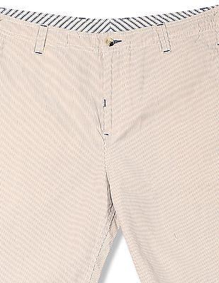 Izod Flat Front Stripe Shorts