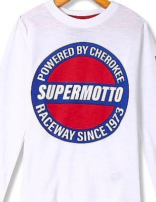 Cherokee Boys Printed Full Sleeve T-Shirt