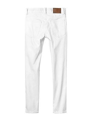 GAP Boys White High Stretch Stain Resistant Slim Jeans