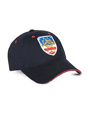 2305a850ecb U.S. Polo Assn. Brand Applique Cotton Twill Cap