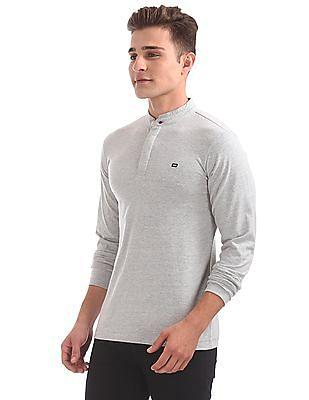 Arrow Sports Long Sleeve Henley T-Shirt