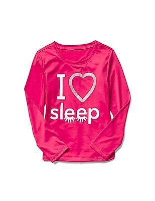GAP Girls Pink Graphic PJ Tee