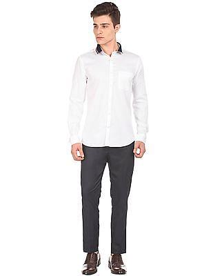 USPA Tailored Solid Polo Collar Shirt
