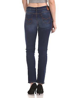 Flying Machine Women Alice Regular Straight Fit Faded Jeans