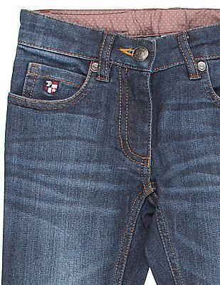 U.S. Polo Assn. Kids Girls Stone Washed Jeans