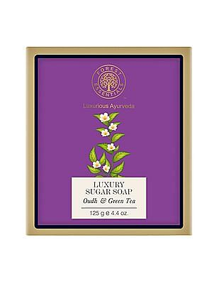 FOREST ESSENTIALS Luxury Sugar Soap - Oudh And Green Tea