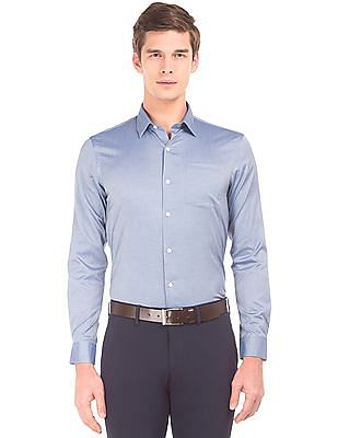 Arrow Slim Fit French Placket Shirt