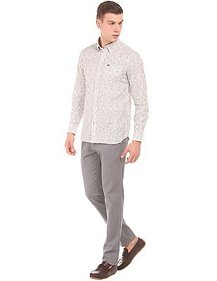 Arrow Sports Cactus Print Slim Fit Shirt