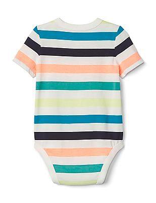 GAP Baby Stripe Brannan Bear Pocket Bodysuit