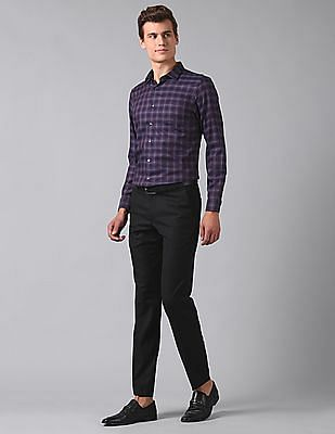 True Blue Slim Fit Check Shirt