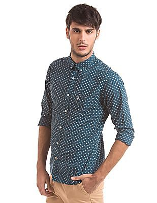 U.S. Polo Assn. Tailored Fit Printed Shirt