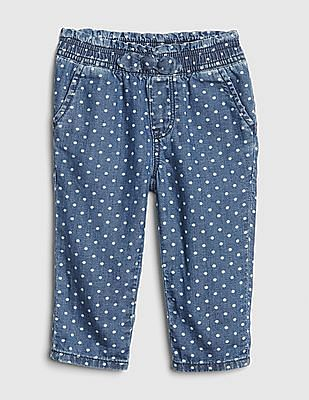 GAP Baby Blue Dot Denim Pull-On Pants