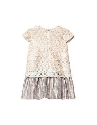 GAP Toddler Girl White Eyelet Double Layer Dress