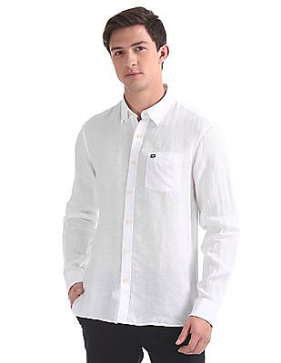 Arrow Sports Slim Fit Concealed Button Down Shirt