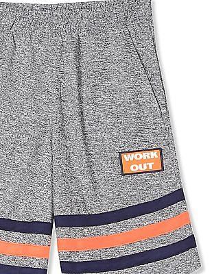 Cherokee Grey Boys Striped Panel Active Shorts