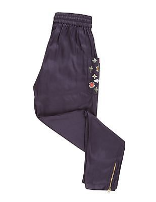 Cherokee Girls Embroidered Pocket Pants