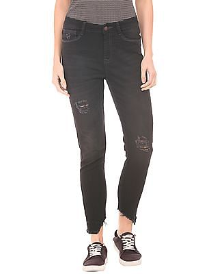 Flying Machine Women Distressed High Rise Skinny Jeans