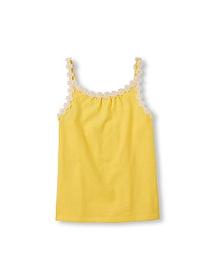 The Children's Place Girls Sleeveless Daisy Trim Top