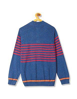 FM Boys Boys High Neck Striped Sweater