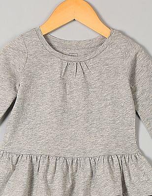 GAP Baby Grey Shirred Peplum Tee