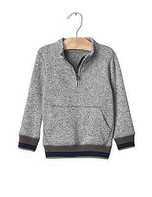 GAP Baby Marled Fleece Mock Neck Sweater