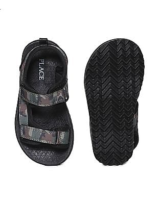 The Children's Place Green Boys Camo Print Velcro Sandals
