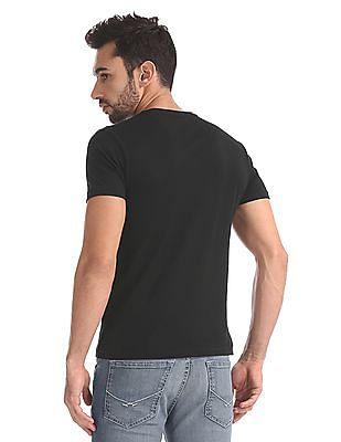 Flying Machine Slim Fit Appliqued T-Shirt